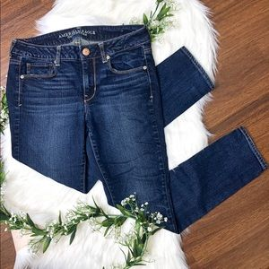 American Eagle | Dark Wash Short Skinny Jeans